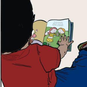 He aparecido Foto de un niño leyendo
