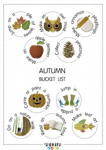 Bucket list de otoño - La lista perfecta para que te unas a #actividadbilinguedeldia