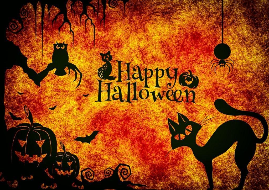 Imagen que dice Happy Halloween