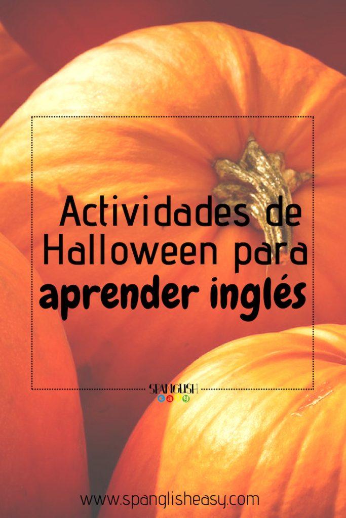 Imagen para pinteres - Aprende los sonidos en inglés con actividades de Halloween
