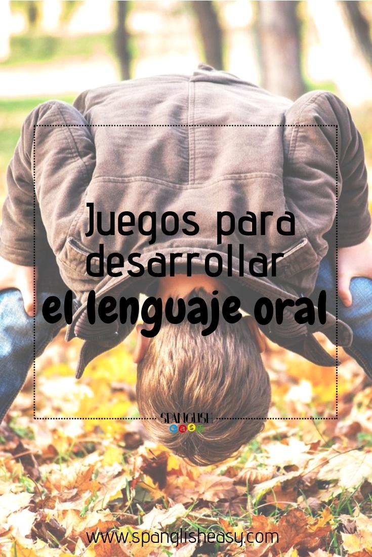 Juegos para desarrollar el lenguaje oral - imagen pinterest