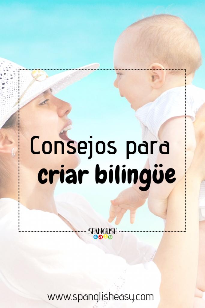 Imagen Pinterest - Consejos para criar bilingüe
