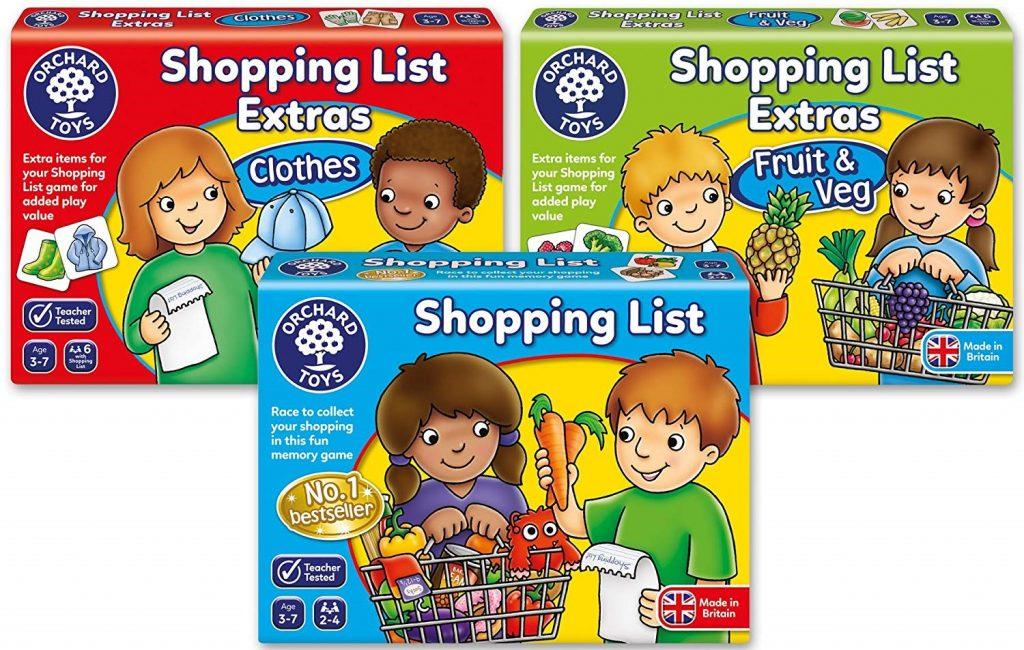 Juegos de mesa sobre la compra en inglés.