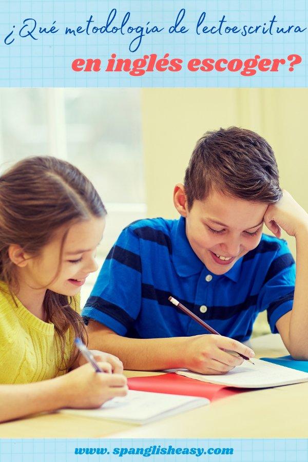 ¿Qué metodología de lectoescritura en inglés escoger?