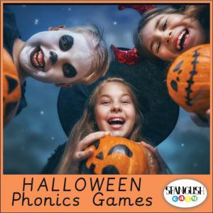 Phonics Word Games Halloween cover